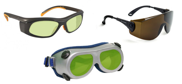 Laser saefty goggles and glasses